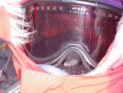 A man's winter face mask in Antarctica