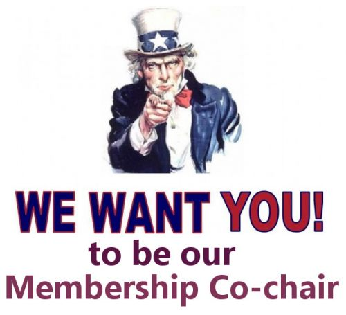 We want you to be our membership co-chair