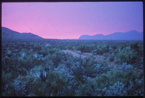 Haze in Big Bend National Park