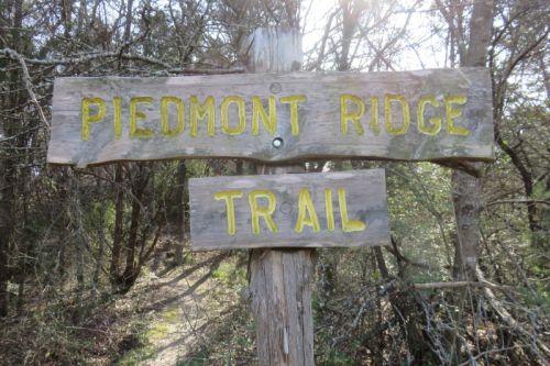 Piedmont Ridge Trailhead Sign