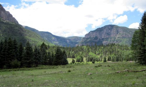 South San Juan Wilderness, South Fork Trial, looking west