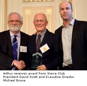 Arthur receiving award
